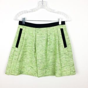 French Connection NWT $148 Tweed Mini Skirt Green